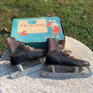 Vintage Sears Ice Skates with Box
